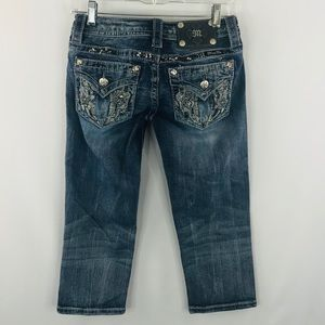 Miss Me denim signature Capri SZ 25